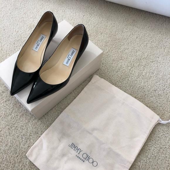 a82b2414c8 Jimmy Choo Shoes | Patent Leather 15 Heel Pump Sz 6 Blk | Poshmark